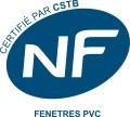 Certifié NF FENETRES PVC par CSTB